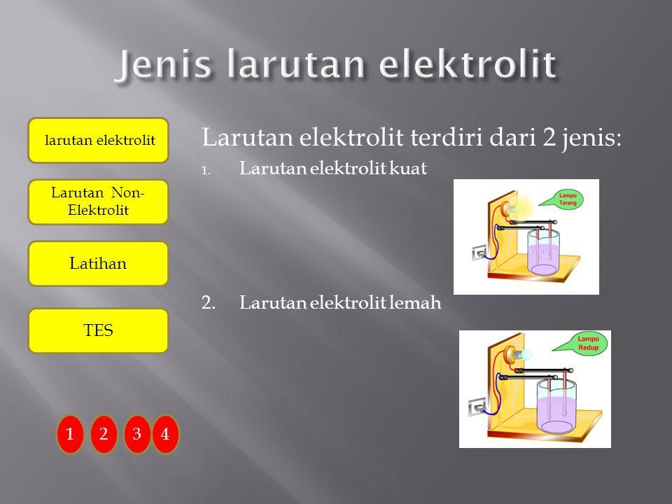 Jenis larutan elektrolit