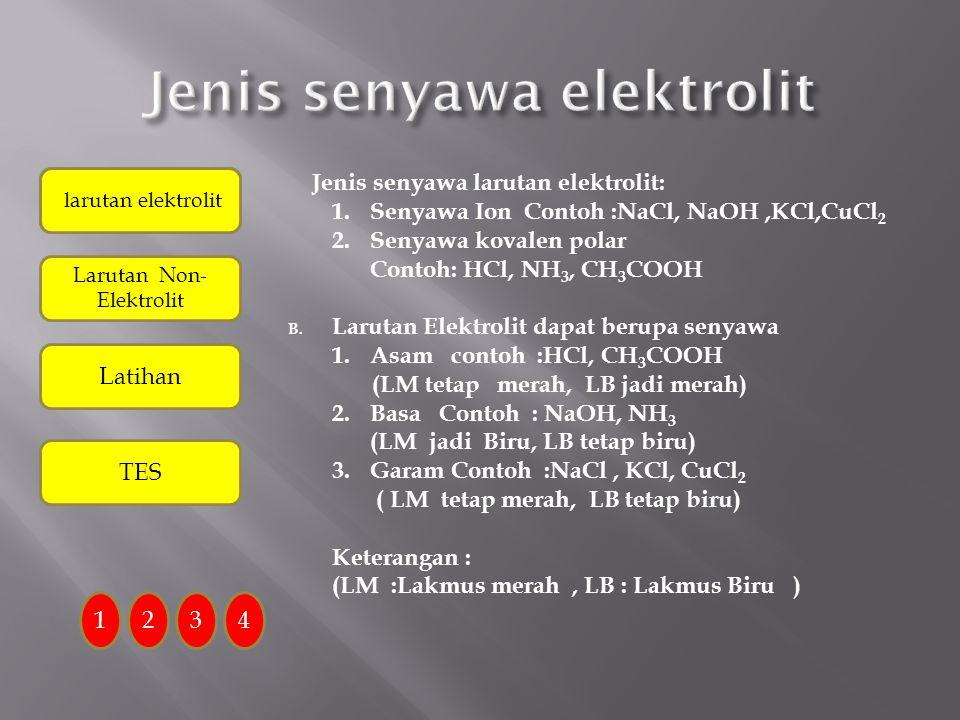 Jenis senyawa elektrolit