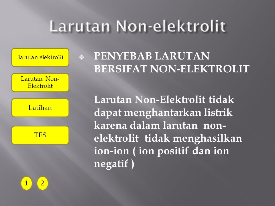 Larutan Non-elektrolit