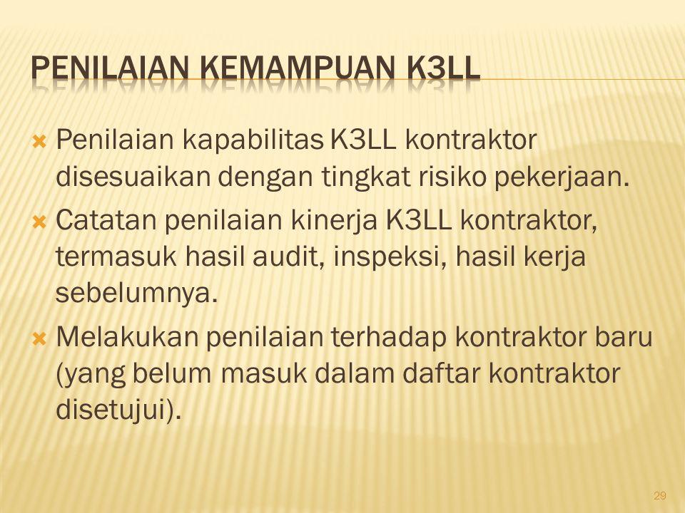 Penilaian Kemampuan K3LL