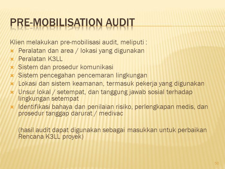 Pre-mobilisation Audit