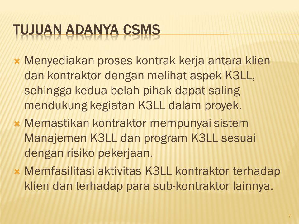 Tujuan adanya CSMS