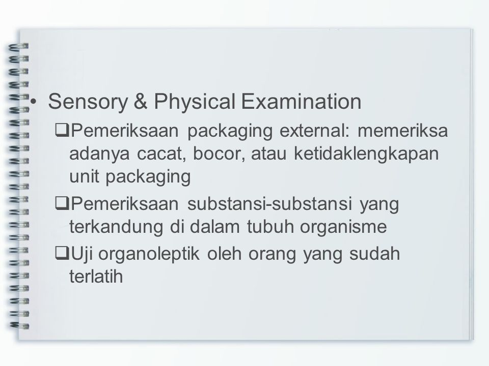 Sensory & Physical Examination