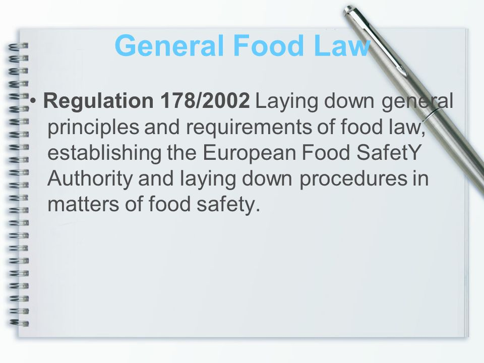 General Food Law