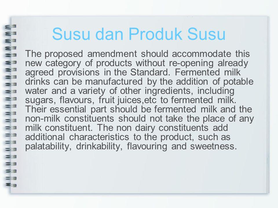 Susu dan Produk Susu