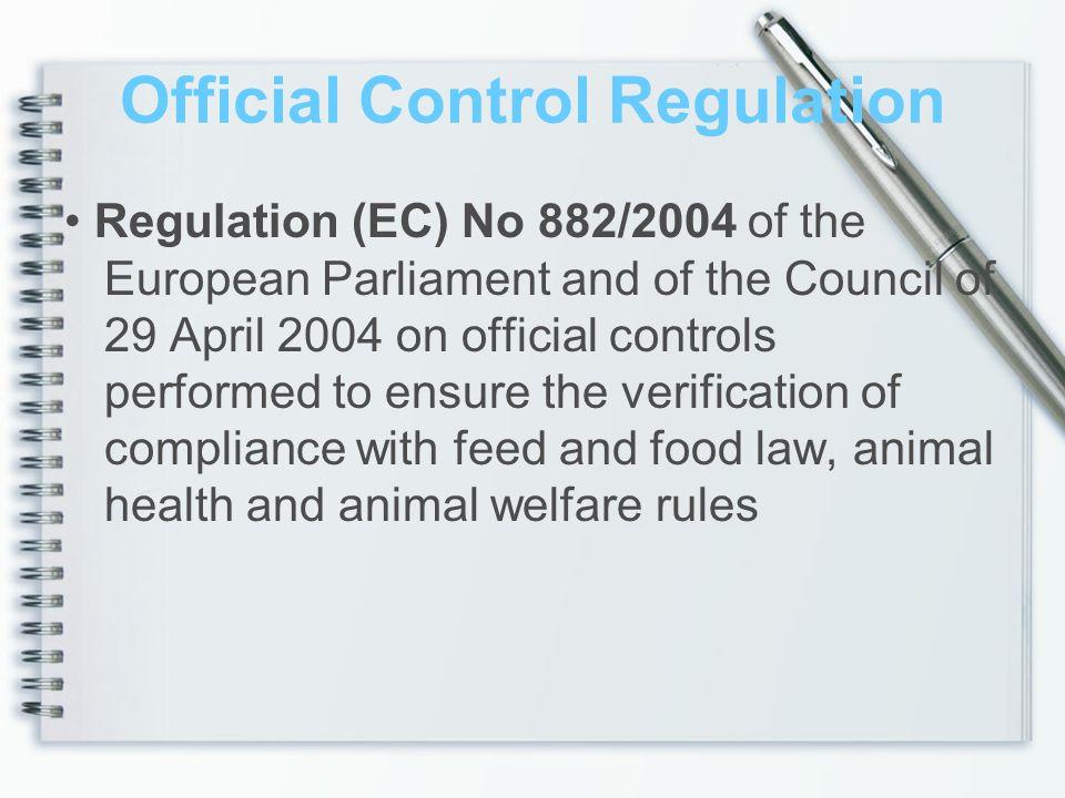 Official Control Regulation
