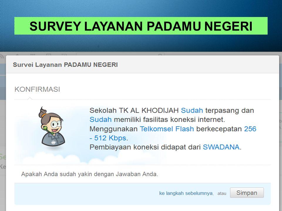 SURVEY LAYANAN PADAMU NEGERI