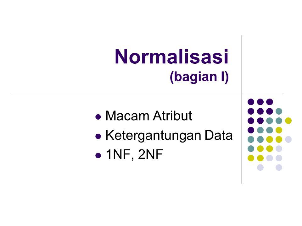 Normalisasi (bagian I)