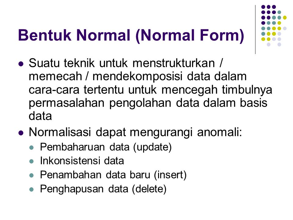 Bentuk Normal (Normal Form)