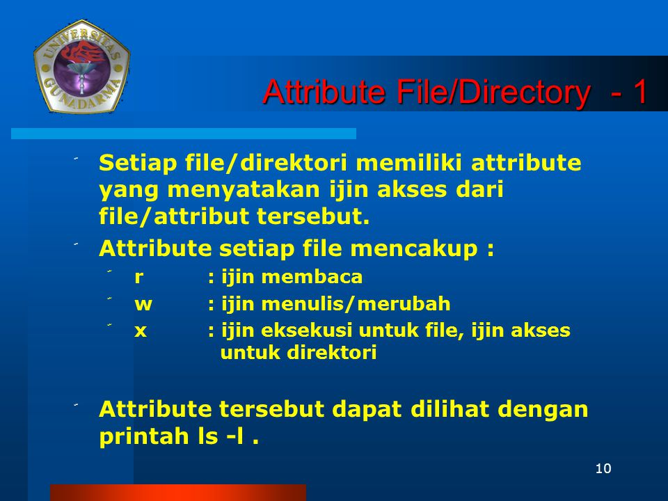 Attribute File/Directory - 1