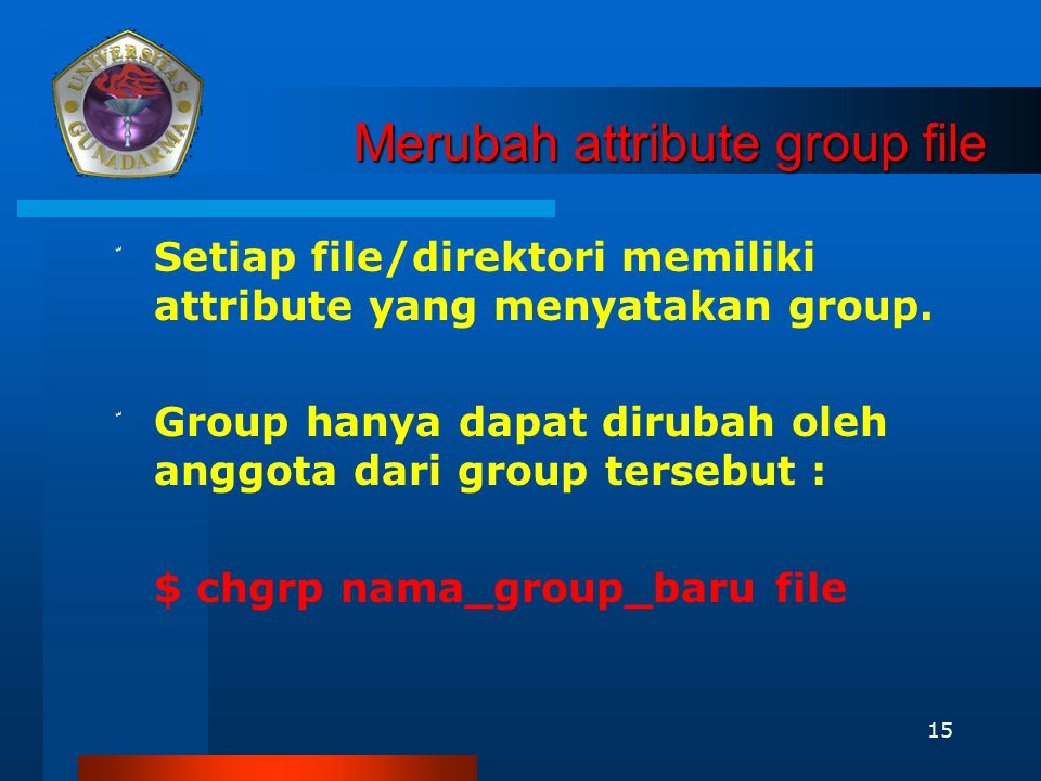 Merubah attribute group file