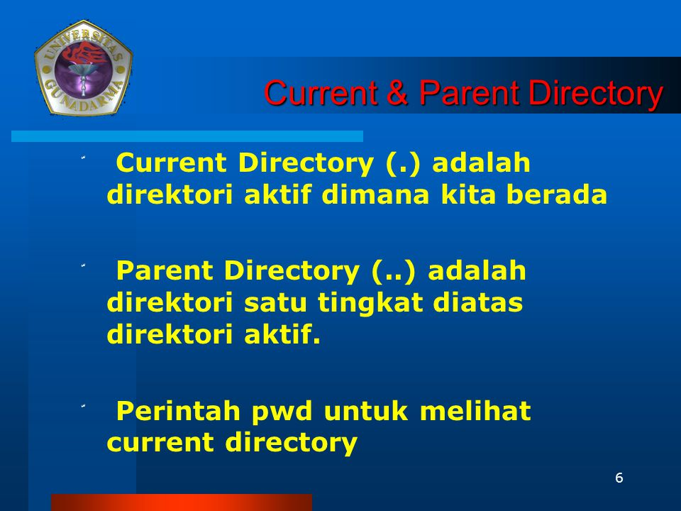 Current & Parent Directory