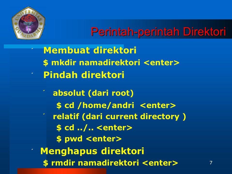 Perintah-perintah Direktori