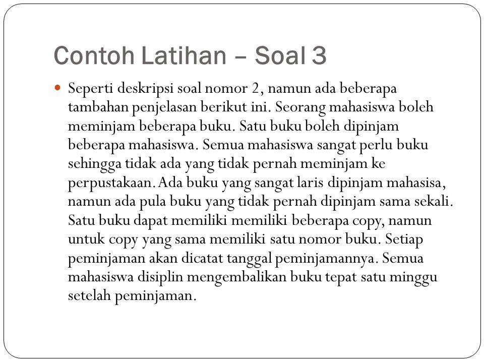 Contoh Latihan – Soal 3