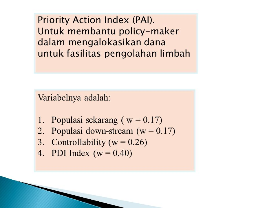 Priority Action Index (PAI).