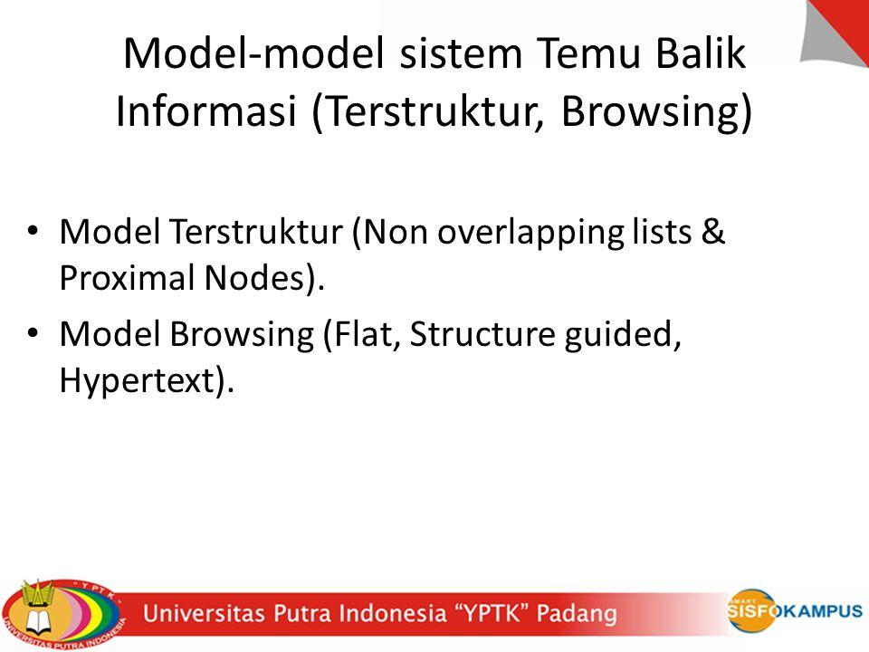 Model-model sistem Temu Balik Informasi (Terstruktur, Browsing)