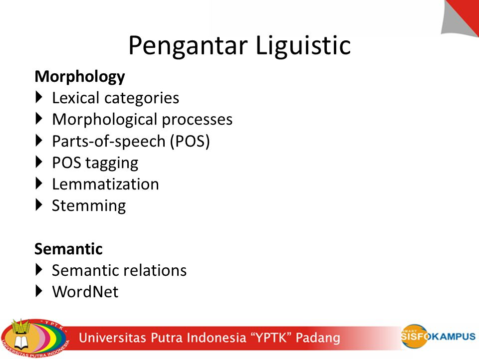 Pengantar Liguistic Morphology Lexical categories