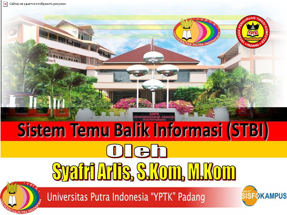 di Sistem Temu Balik Informasi (STBI) Syafri Arlis, S.Kom, M.Kom