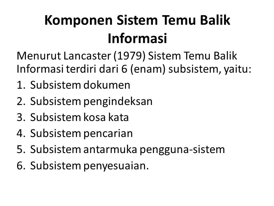 Komponen Sistem Temu Balik Informasi
