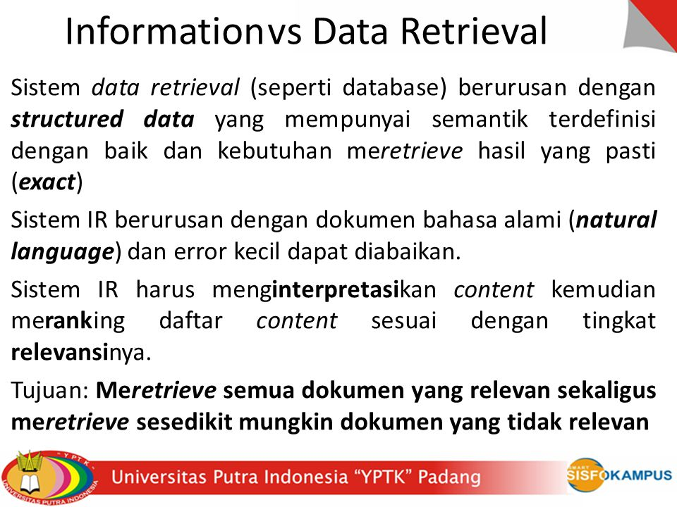 Information vs Data Retrieval