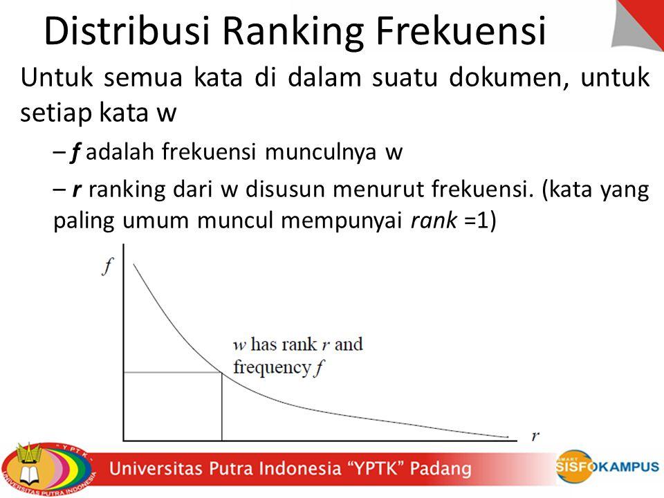 Distribusi Ranking Frekuensi