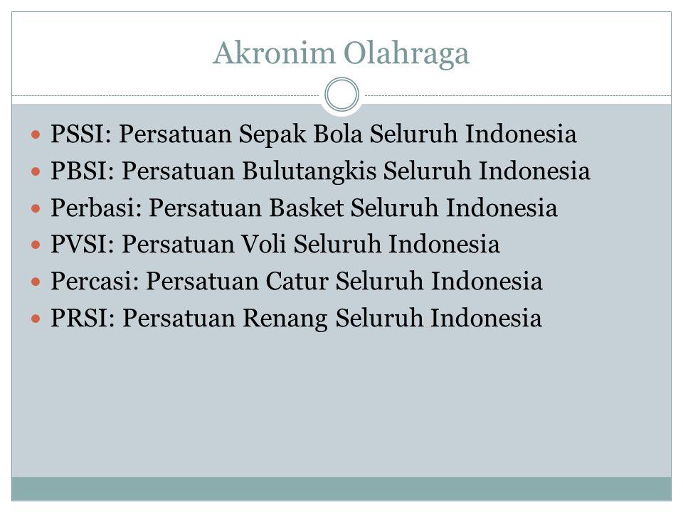 Akronim Olahraga PSSI: Persatuan Sepak Bola Seluruh Indonesia
