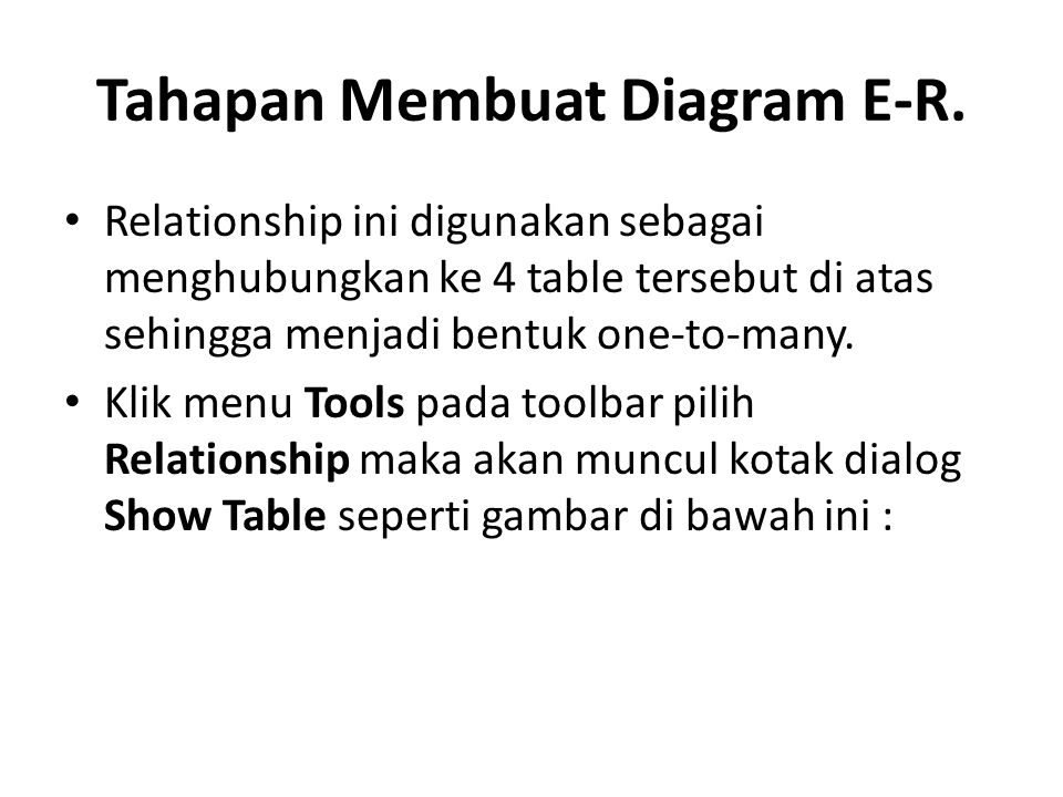 Tahapan Membuat Diagram E-R.