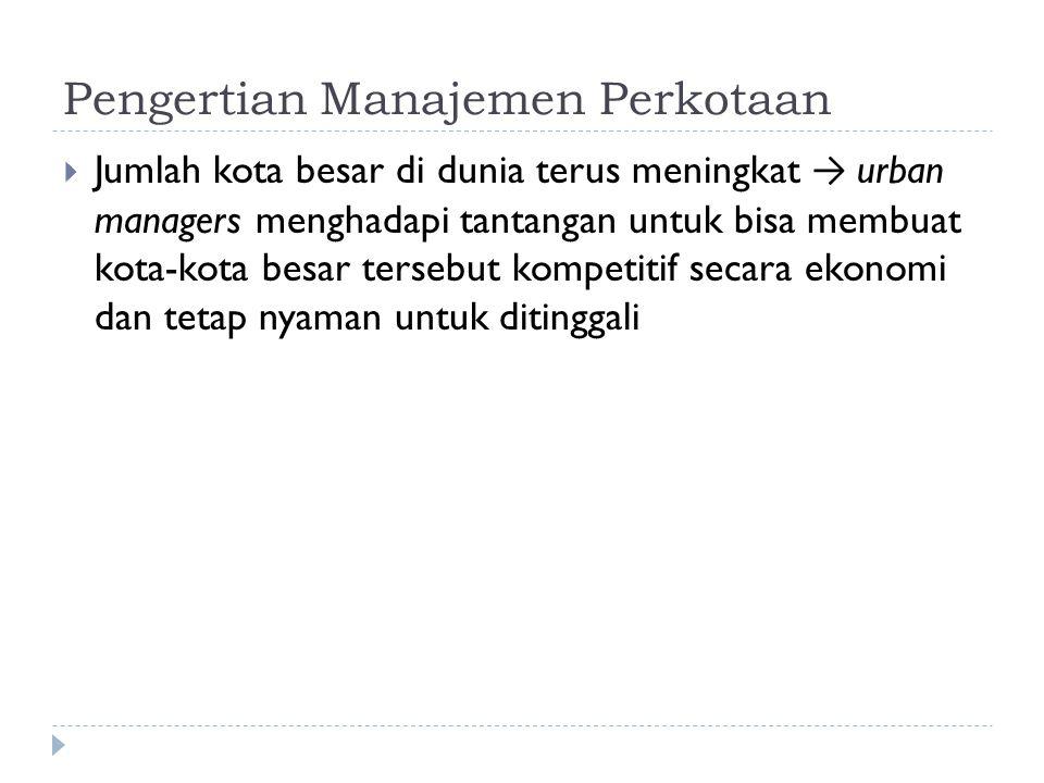 Pengertian Manajemen Perkotaan