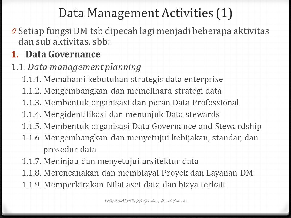 Data Management Activities (1)