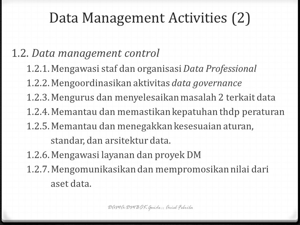Data Management Activities (2)