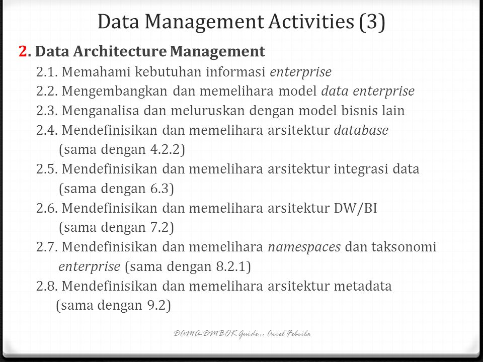 Data Management Activities (3)