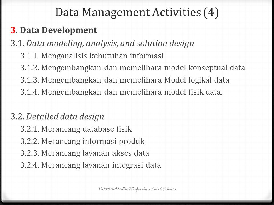 Data Management Activities (4)