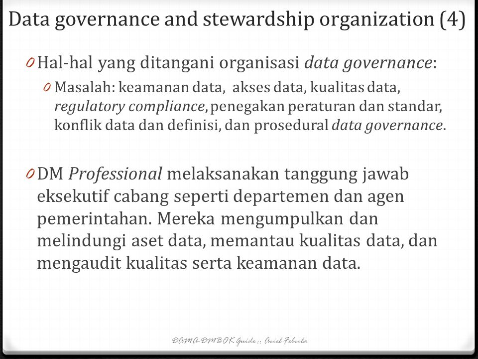 Data governance and stewardship organization (4)