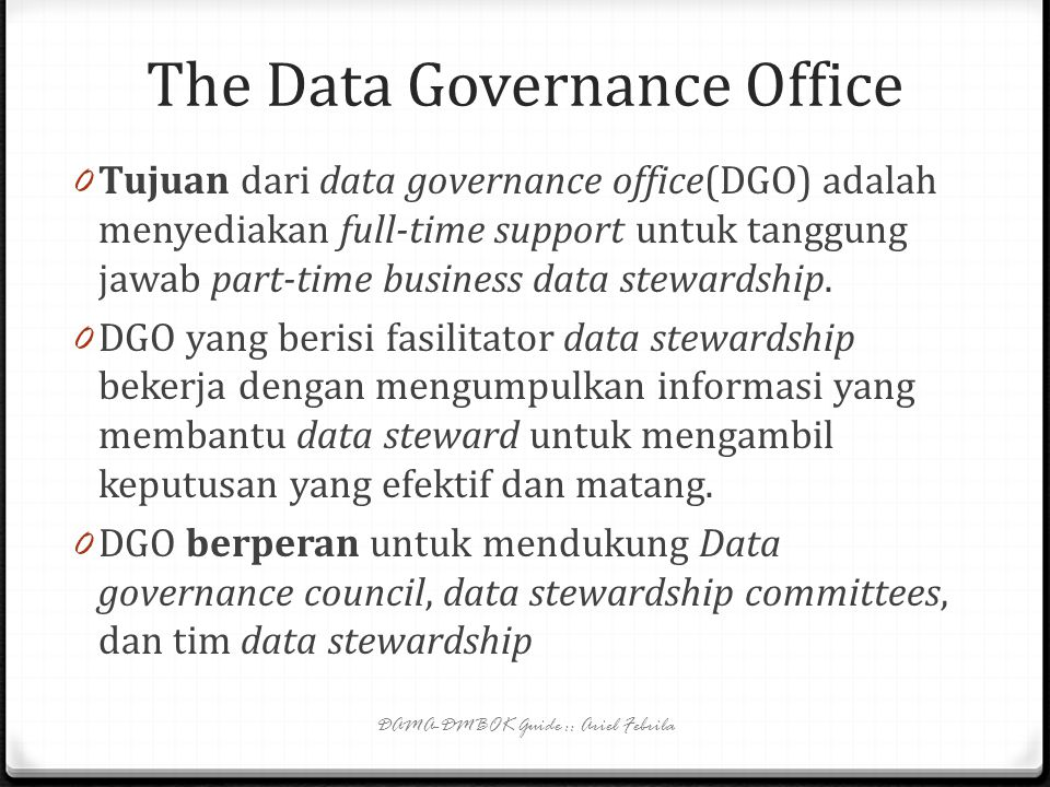 The Data Governance Office
