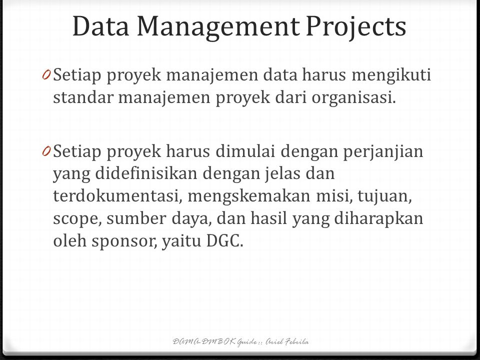 Data Management Projects