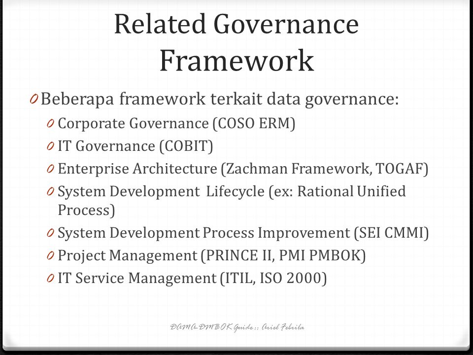 Related Governance Framework