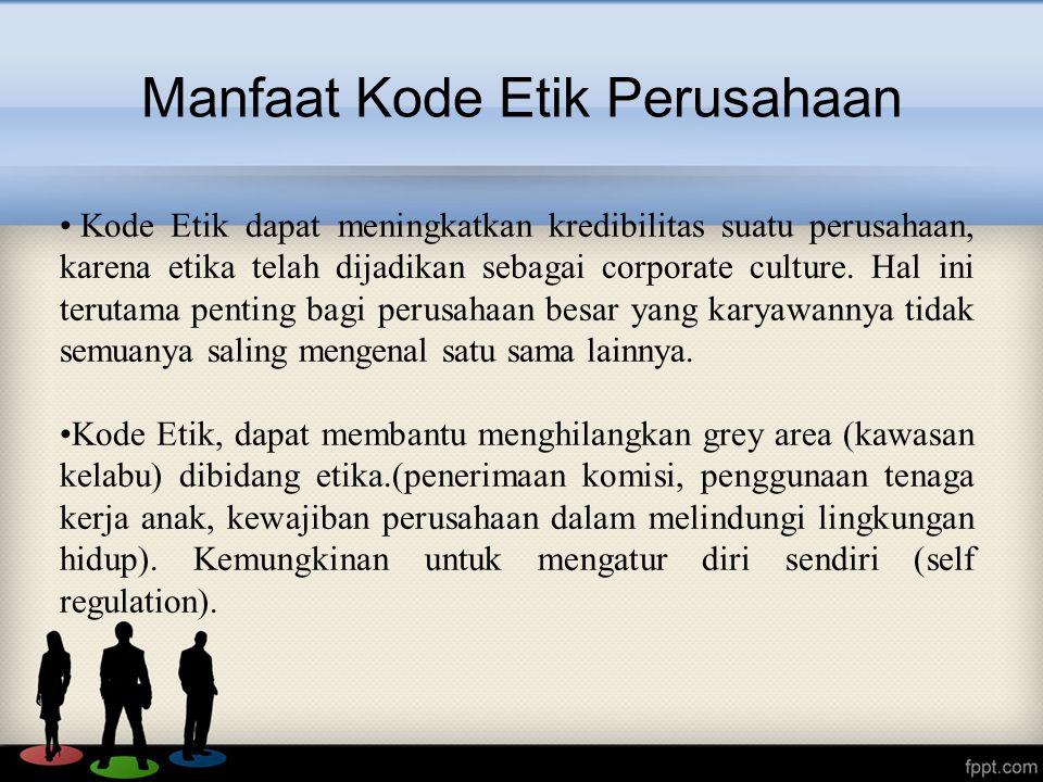 Manfaat Kode Etik Perusahaan