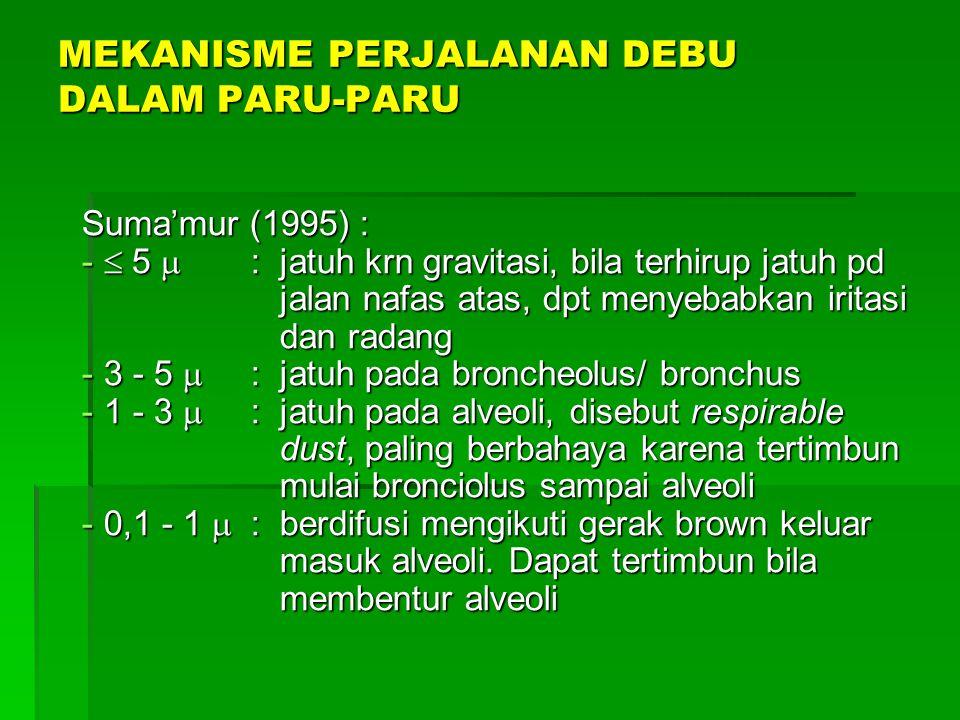 MEKANISME PERJALANAN DEBU DALAM PARU-PARU
