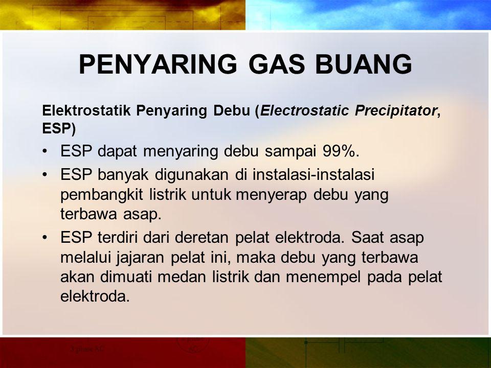 PENYARING GAS BUANG ESP dapat menyaring debu sampai 99%.