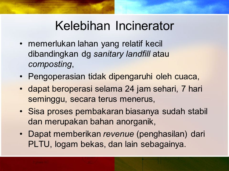 Kelebihan Incinerator