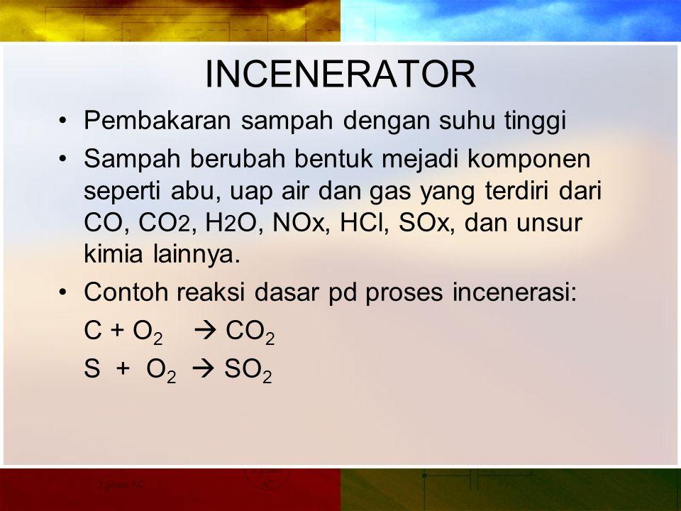 INCENERATOR Pembakaran sampah dengan suhu tinggi