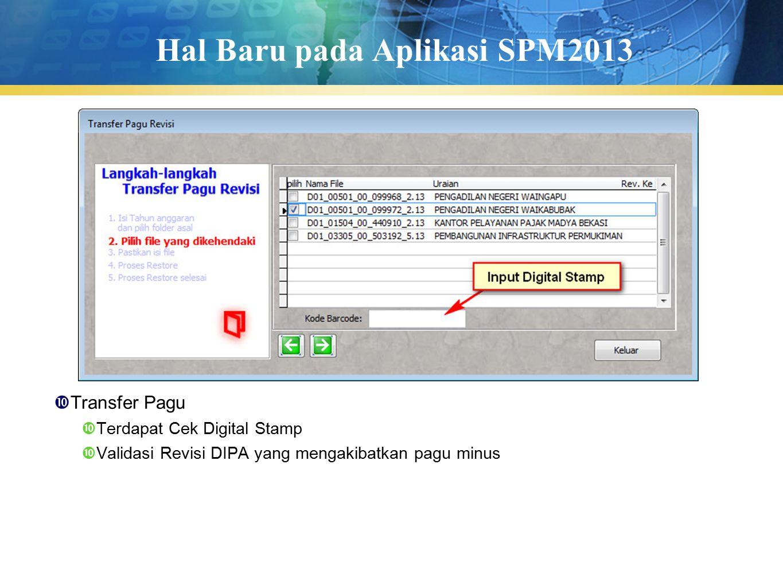 Hal Baru pada Aplikasi SPM2013