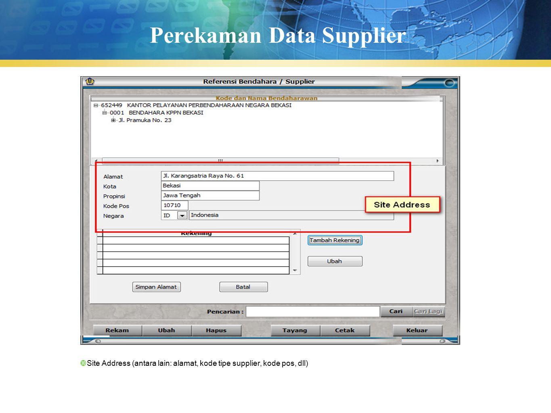 Perekaman Data Supplier