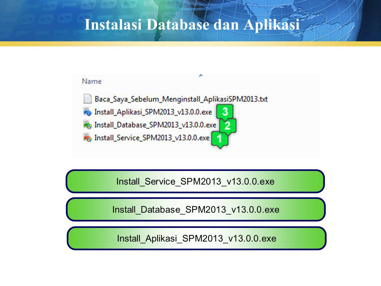 Instalasi Database dan Aplikasi