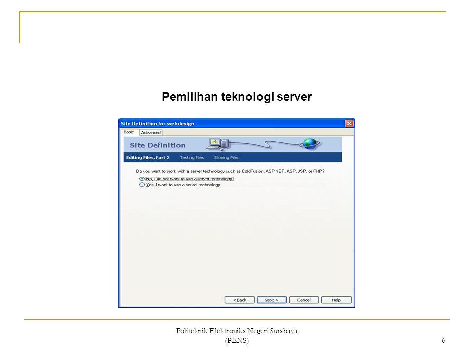 Pemilihan teknologi server
