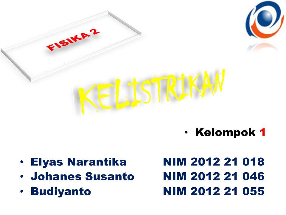 KELISTRIKAN FISIKA 2 Kelompok 1 Elyas Narantika NIM 2012 21 018