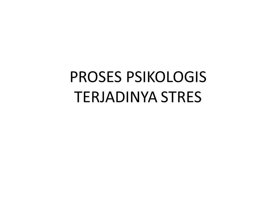 PROSES PSIKOLOGIS TERJADINYA STRES
