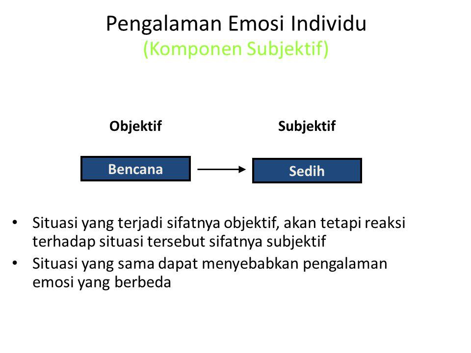 Pengalaman Emosi Individu (Komponen Subjektif)