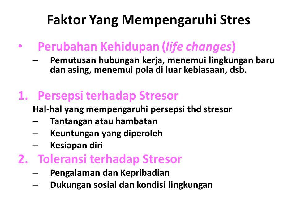 Faktor Yang Mempengaruhi Stres