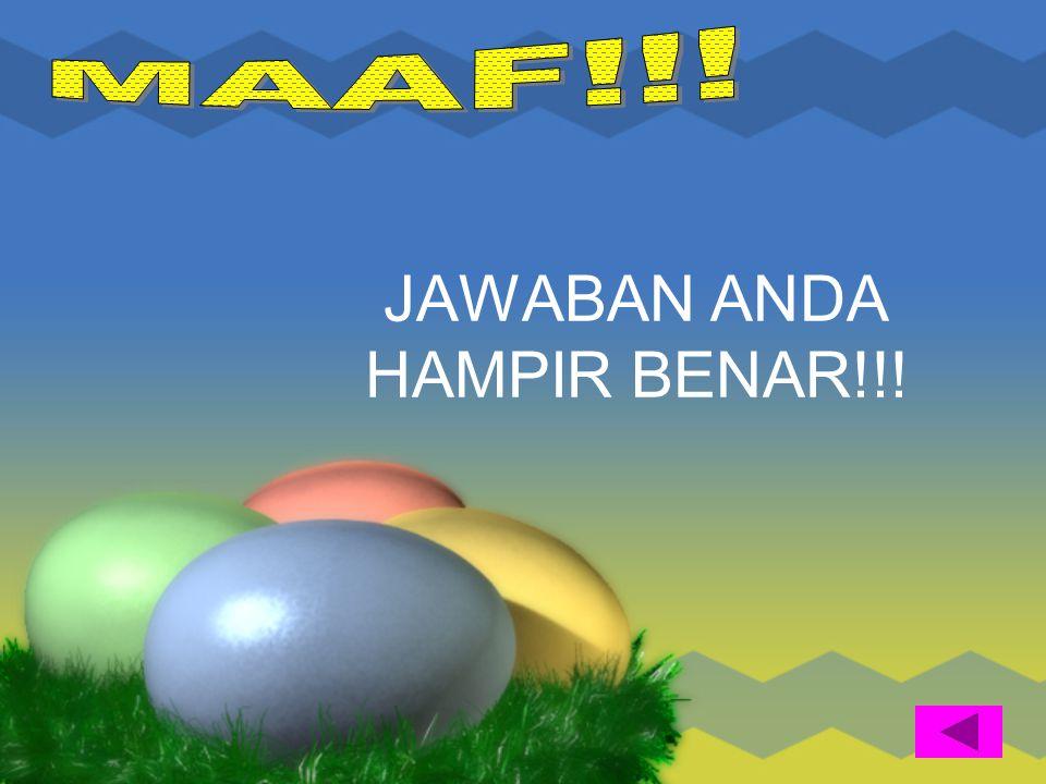JAWABAN ANDA HAMPIR BENAR!!!